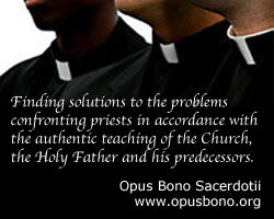 Opus Bono Sacerdotii: Work for the Good of the Priesthood